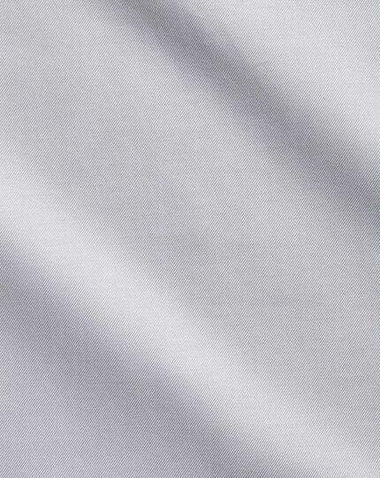 Chemise grise en twill coupe droite sans repassage
