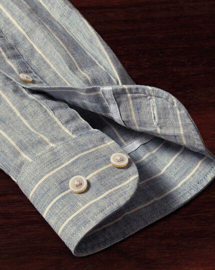 Extra Slim Fit Hemd in Jeansblau mit strukturierten Streifen