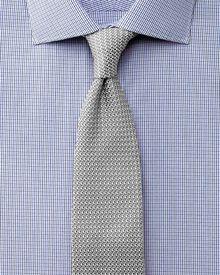 Slim fit semi-cutaway collar luxury poplin navy and blue shirt