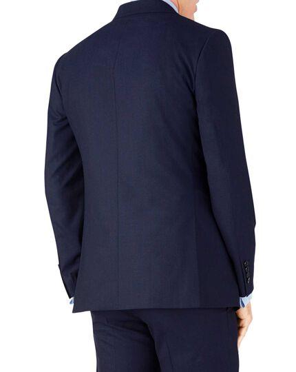 Slim Fit Panama-Businessanzug Sakko in Blau mit Streifen