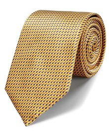 Gold silk classic lattice tie