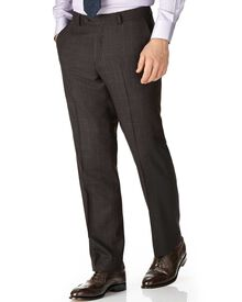 Dark grey classic fit saxony business suit pants