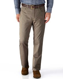 Stone slim fit 5 pocket textured dobby trousers