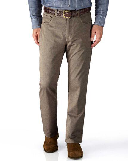 Stone slim fit 5 pocket textured dobby pants