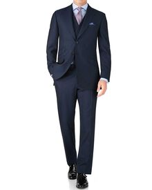 Blue classic fit British Panama luxury suit