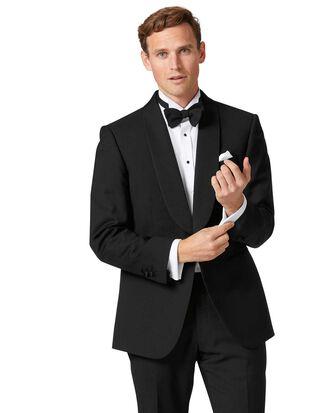 Veste de costume de soirée noire coupe droite à col châle