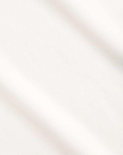 Chemise crème en popeline sans repassage avec coupe droite