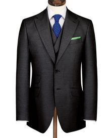 Charcoal Yorkshire worsted luxury suit