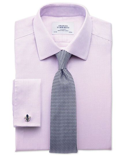 Slim fit non iron imperial weave lilac shirt
