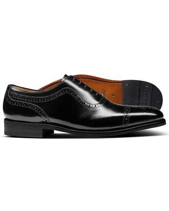 Parker Budapester Oxford-Schuh mit Zehenkappe in Schwarz