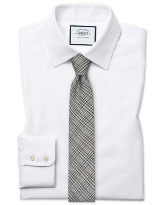 Extra slim fit Egyptian cotton poplin white shirt