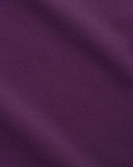 Bügelfreies Slim Fit Business-Casual Hemd in Dunkelviolett mit modernen Strukturen