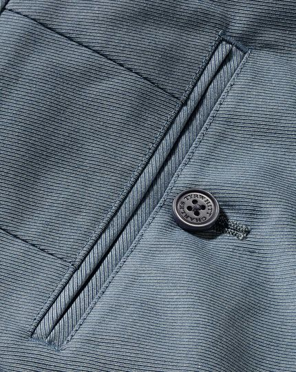 Slim Fit Stretch-Hose aus Cavalry-Twill Chambray in Blau