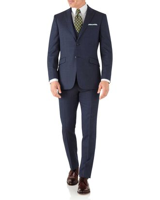 Airforce blue slim fit hairline business suit