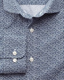 Classic fit printed all over spot navy shirt