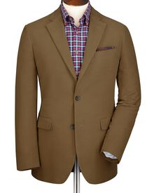 Camel slim fit moleskin unstructured jacket