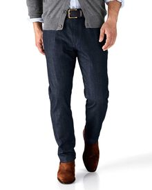 Dark blue slim fit 5 pocket denim jeans