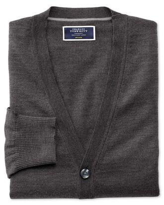 Charcoal merino wool cardigan