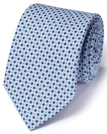 Navy and sky linen classic chambray tie