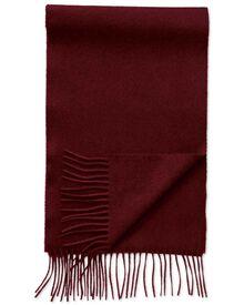 Burgundy cashmere and merino scarf