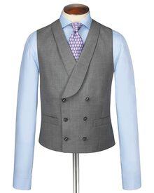 Silver British Panama luxury suit vest