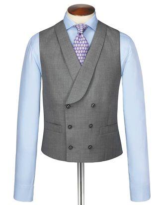 Silver adjustable fit British Panama luxury suit waistcoat