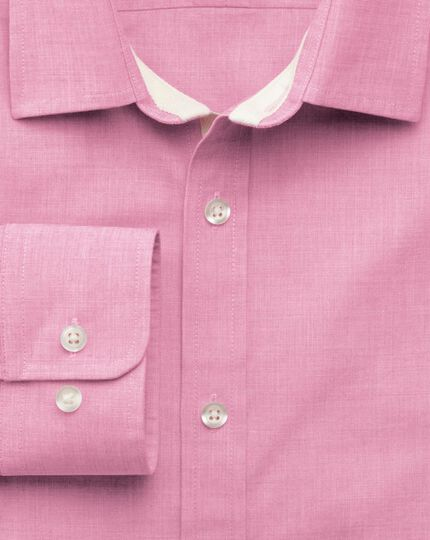Slim fit pink end-on-end shirt