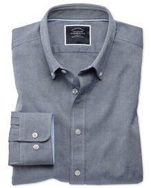 Extra slim fit indigo plain washed Oxford shirt