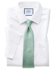 Chemise blanche en popeline slim fit sans repassage à manches courtes