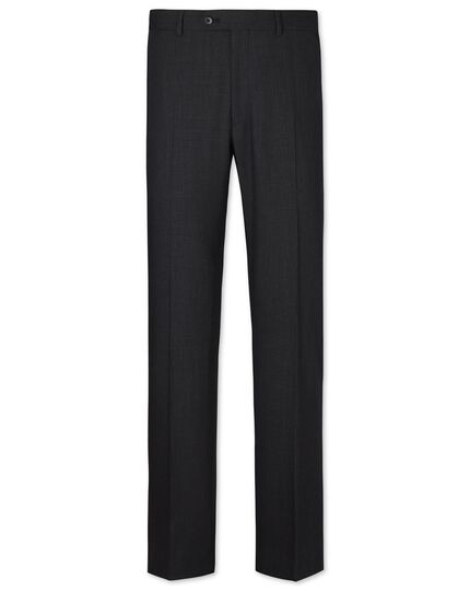 Charcoal slim fit crowsfoot business suit trousers