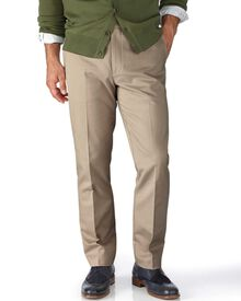 Stone extra slim fit flat front non-iron chinos