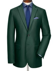 Green slim fit Oxford unstructured jacket