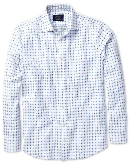Extra slim fit white and blue double faced shirt