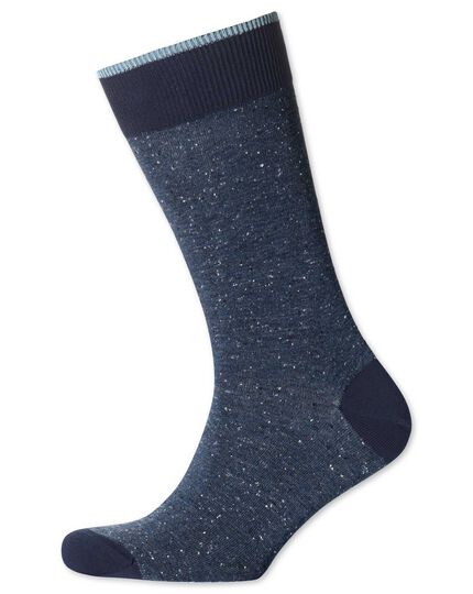 Blue Donegal socks