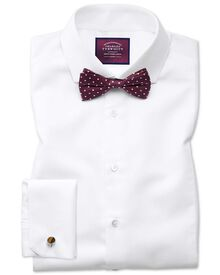 Slim fit non-iron spread collar luxury white shirt