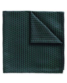 Forest green wire lattice classic pocket square