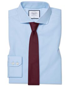 Extra slim fit cutaway collar non-iron twill sky blue shirt