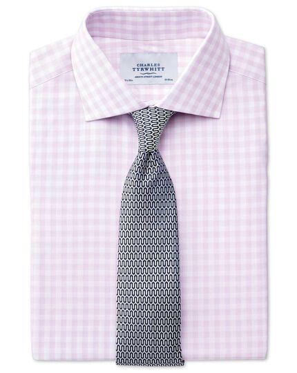 Silver and navy silk luxury English geometric tie
