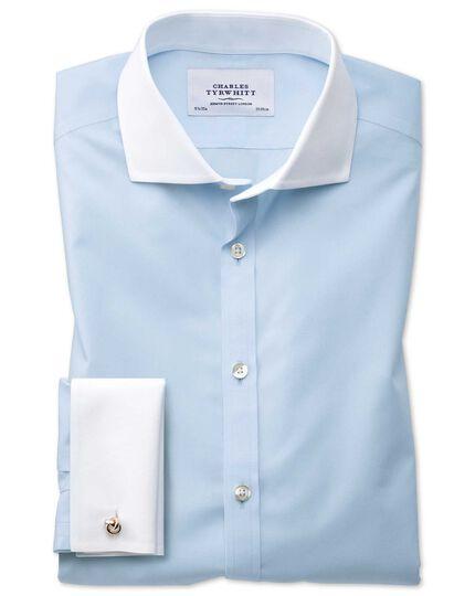 Bügelfreies Extra Slim Fit Winchester Hemd mit Haifischkragen in Himmelblau