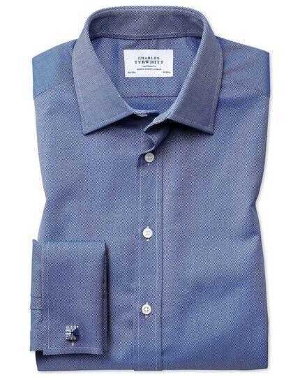 Extra Slim Fit Royal Oxfordhemd aus ägyptischer Baumwolle in Königsblau