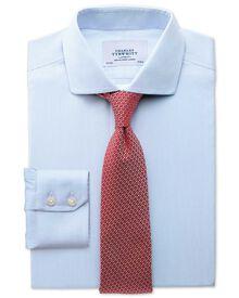 Slim fit cutaway collar non-iron mouline stripe sky blue shirt
