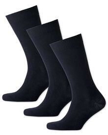 3er Pack Baumwollsocken in Marineblau