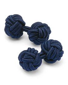 Navy Silk Knot Cuff Links Only $10.00