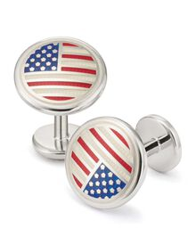USA flag enamel cuff links