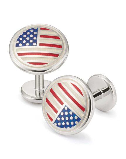 USA flag enamel cufflinks