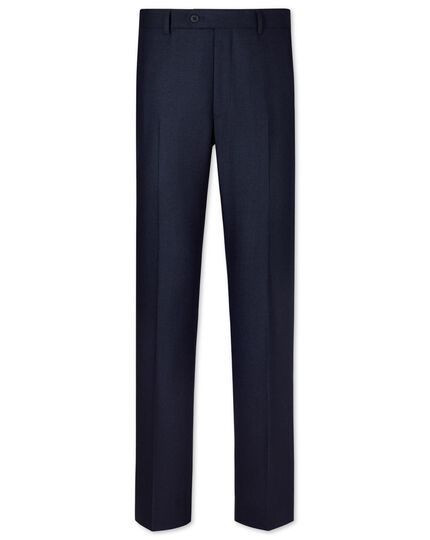 Navy and black slim fit puppytooth business suit pants