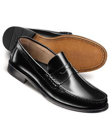Black Hatton penny loafers