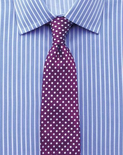 Extra slim fit non-iron twill stripe sky shirt