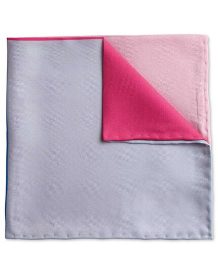 Pink printed quarter classic pocket square