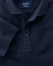 Classic fit navy polo shirt